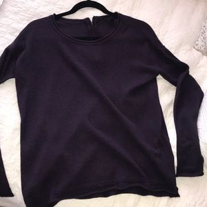 Purple H&M scoop neck sweater
